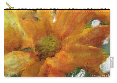 Orange Chrysanthemem Photoart Carry-all Pouch by Debbie Portwood