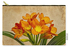 Orange Clivia Lily  Carry-all Pouch by Sandra Foster