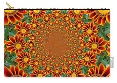 Orange Crazy Daisy Carry-all Pouch