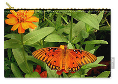 Orange Creatures Carry-all Pouch by Rodney Lee Williams
