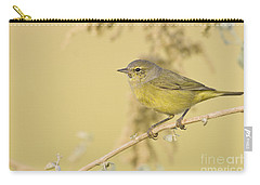 Orange Crowned Warbler Carry-all Pouch by Bryan Keil
