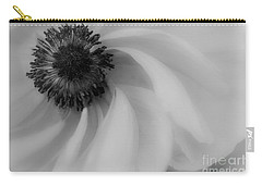 Orange Flower In Black And White Carry-all Pouch