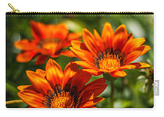 Carry-all Pouch featuring the photograph Orange Flowers by Jane Luxton