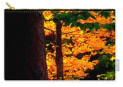 Carry-all Pouch featuring the photograph Orange Foliage by Denyse Duhaime