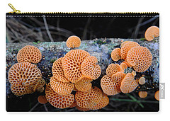 Orange Fungus Carry-all Pouch by Pamela Walton