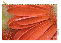 Orange Gerber Daisy Painting Carry-all Pouch