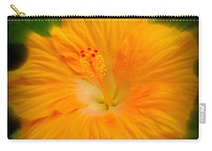 Carry-all Pouch featuring the photograph Orange Hibiscus Flower by Clare Bevan