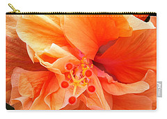 Carry-all Pouch featuring the photograph Orange Hibiscus by Karen Zuk Rosenblatt