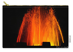 Carry-all Pouch featuring the photograph Orange Lava by Clayton Bruster