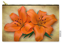 Orange Lily Carry-all Pouch by Jane McIlroy