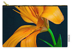 Orange Lily Profile Carry-all Pouch