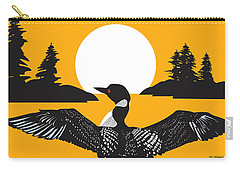 Orange Loon Carry-all Pouch by Derrick Higgins