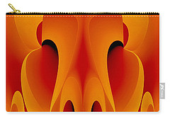 Carry-all Pouch featuring the mixed media Orange Mask by Rafael Salazar
