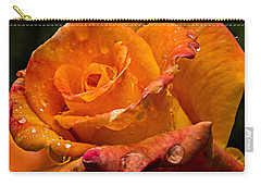 Orange Rose Drops Carry-all Pouch