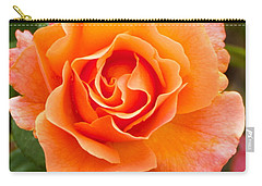 Carry-all Pouch featuring the photograph Orange Rose Lillian by Dee Dee  Whittle