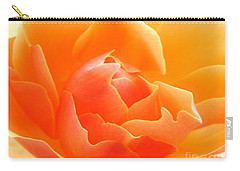 Carry-all Pouch featuring the photograph Orange Sherbet by Deb Halloran