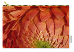 Carry-all Pouch featuring the photograph Orange Sherbet Delight Dahlia by Susan Garren