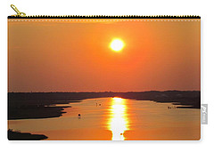 Carry-all Pouch featuring the photograph Orange Sunset by Cynthia Guinn