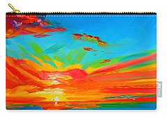 Orange Sunset Landscape Carry-all Pouch