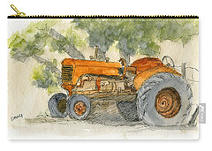 Orange Tractor Carry-all Pouch