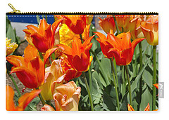 Orange Tulips Carry-all Pouch by Jim Brage