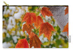 Carry-all Pouch featuring the photograph Orange White And Green by Ronda Kimbrow