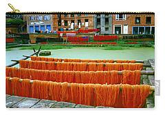 Orange Yarn Carry-all Pouch