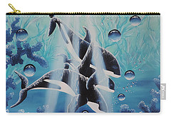Carry-all Pouch featuring the painting Orcan Family by Dianna Lewis