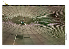 Carry-all Pouch featuring the photograph Orchard Orbweaver #1 by Paul Rebmann