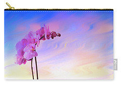 Orchid In Blue Carry-all Pouch