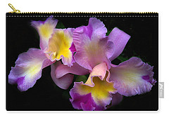 Orchid Embrace Carry-all Pouch by Jessica Jenney