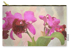 Orchid In Hot Pink Carry-all Pouch by Rosalie Scanlon