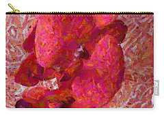 Orchid On Fabric Carry-all Pouch