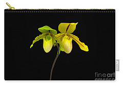 Carry-all Pouch featuring the photograph Orchid Paphiopedilum Druid Spring by Susan Wiedmann