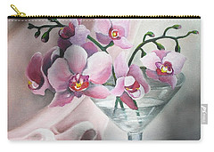 Carry-all Pouch featuring the painting Orchids by Vesna Martinjak