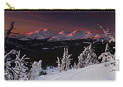 Carry-all Pouch featuring the photograph Oregon Cascades Winter Sunset by Kevin Desrosiers