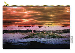 Carry-all Pouch featuring the photograph Ocean Storm by Aaron Berg