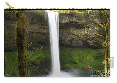 Oregon Waterfall Woodland Carry-all Pouch by Andrea Hazel Ihlefeld