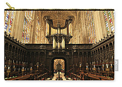 Organ And Choir - King's College Chapel Carry-all Pouch by Stephen Stookey
