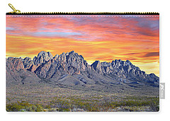 Organ Mountain Sunrise Most Viewed  Carry-all Pouch by Jack Pumphrey