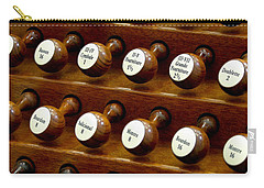 Organ Stop Knobs Carry-all Pouch
