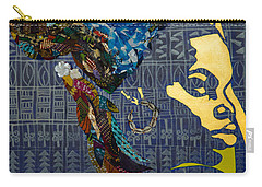 Carry-all Pouch featuring the tapestry - textile Ori Dreams Of Home by Apanaki Temitayo M