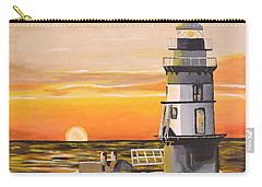 Orient Point Lighthouse Carry-all Pouch by Donna Blossom