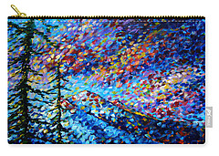 Original Abstract Impressionist Landscape Contemporary Art By Madart Mountain Glory Carry-all Pouch