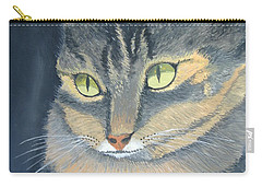 Original Cat Painting Carry-all Pouch by Norm Starks