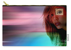 Original Jessica Alba Painting Carry-all Pouch by Marvin Blaine