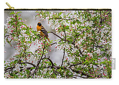 Oriole In Crabapple Tree Carry-all Pouch by Bill Wakeley