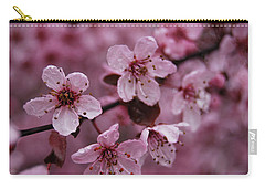 Carry-all Pouch featuring the photograph Ornamental Cherry Tree - Blossoms by Jani Freimann