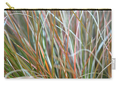 Carry-all Pouch featuring the photograph Ornamental Grass Abstract by E Faithe Lester