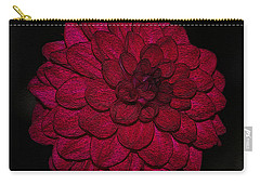 Ornate Red Dahlia Carry-all Pouch
